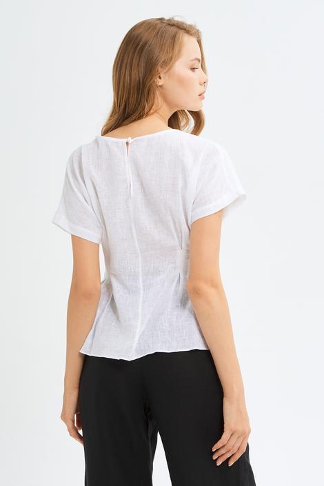 Beyaz Pensli Bluz