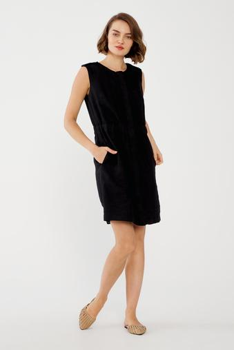 Siyah Cepli Elbise