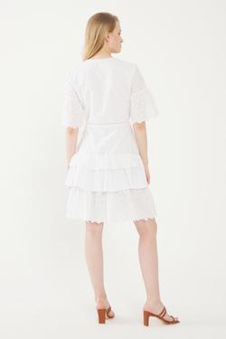V Yaka Bağlamalı Elbise