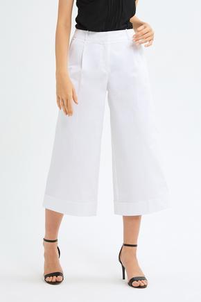 Beyaz Duble Paça Pantolon