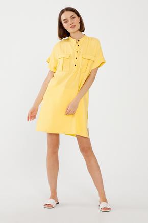 Sarı Düğmeli Tunik
