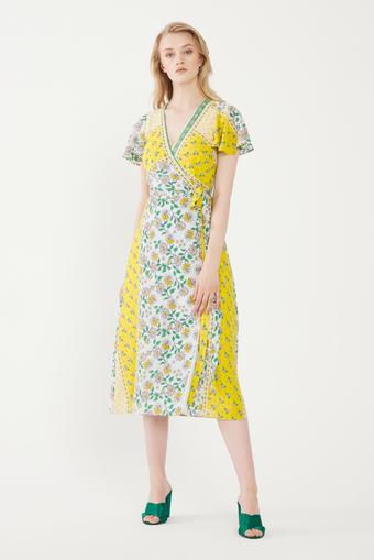 Yeşil Kruvaze Elbise