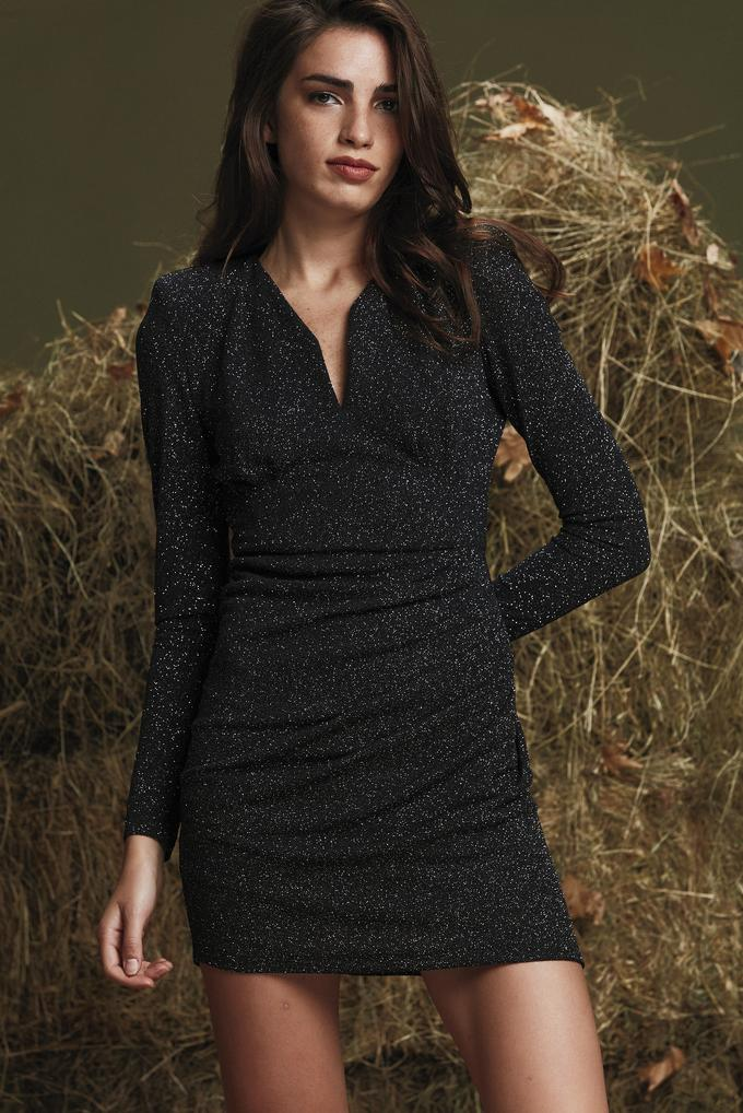Siyah Uzun Kollu Mini Elbise