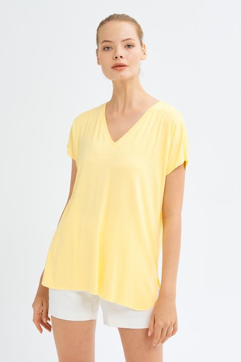 Sarı Kısa Kol Bluz