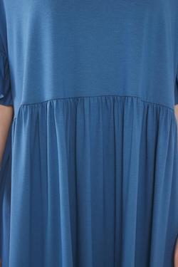 Kolları Volanlı Elbise