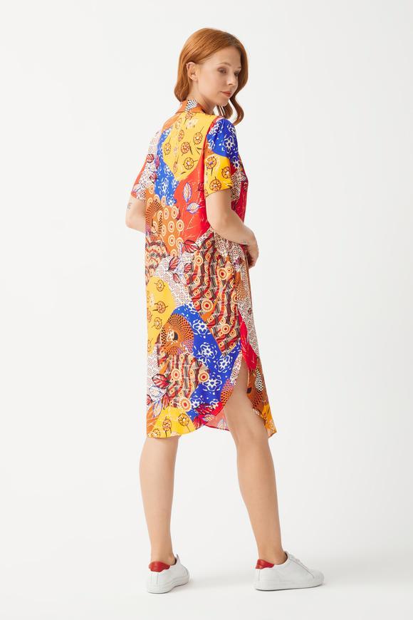 Camel Gömlek Elbise