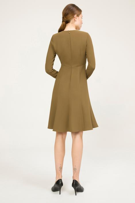 Yeşil Yakası Aksesuarlı Elbise
