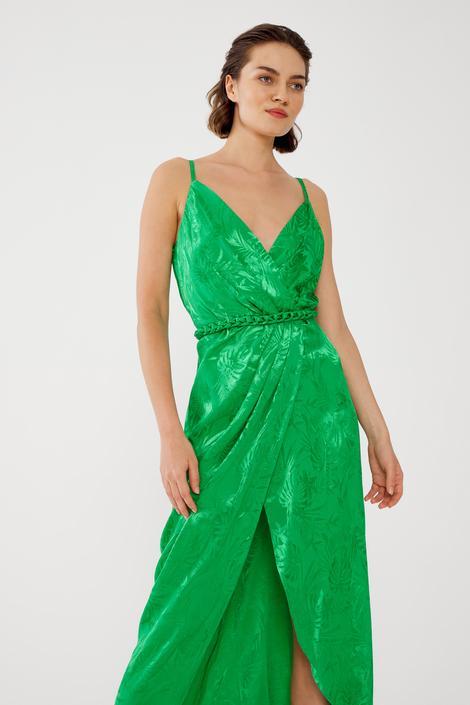 Yeşil Askılı Elbise