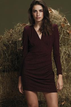 Uzun Kollu Mini Elbise