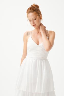 Askılı Tül Elbise