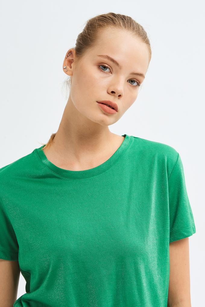 Yeşil Yuvarlak Yaka T-shirt
