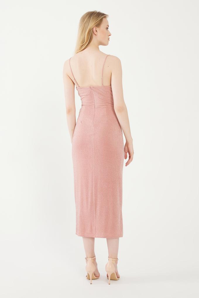 Pembe Askılı Elbise