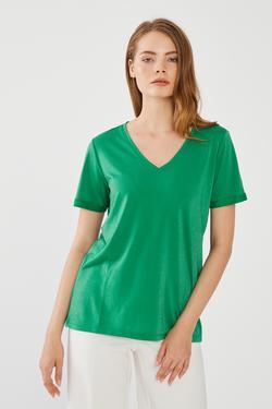 V Yaka Duble Kol Tshirt