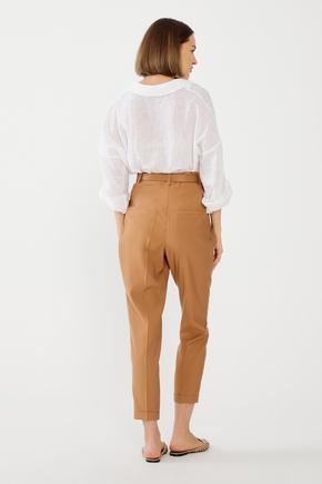 Kahverengi Pileli Pantolon