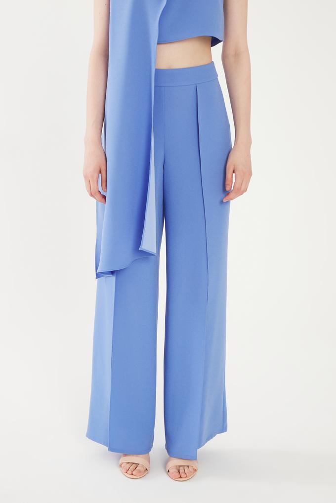 Mavi Yırtmaçlı Pantolon