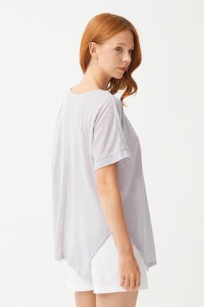 Gri Baskılı T-Shirt