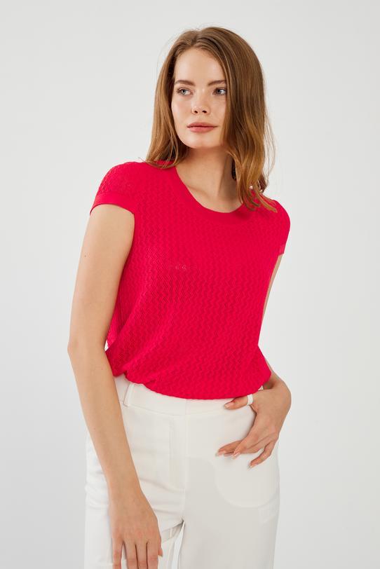 Kırmızı Ajurlu Triko