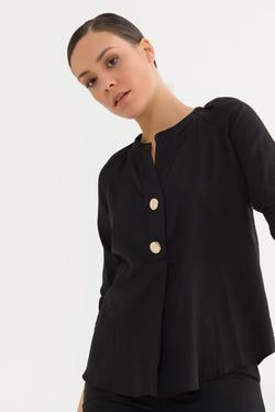 Önü Düğmeli Bluz