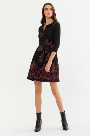 Siyah Truvakar Kol Elbise