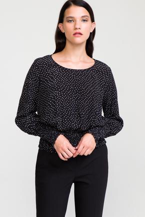 Siyah Beli Bantlı Bluz