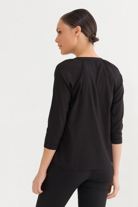 Siyah Önü Düğmeli Bluz