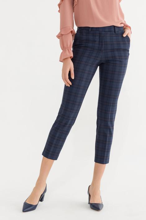 Lacivert Arkası Lastikli Pantolon