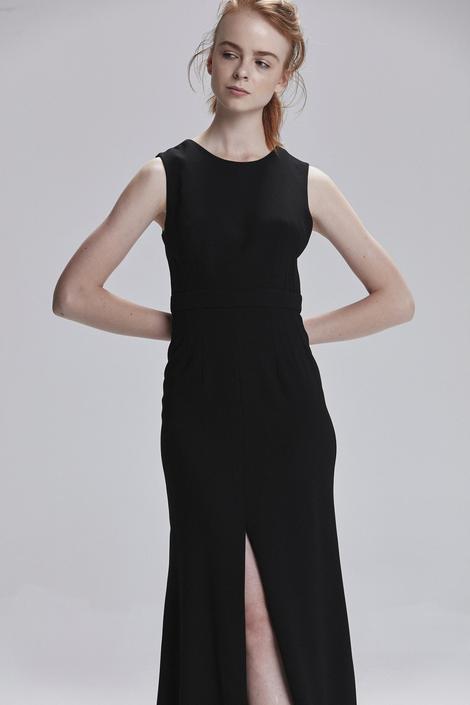 Siyah Sırt Dekolteli Elbise