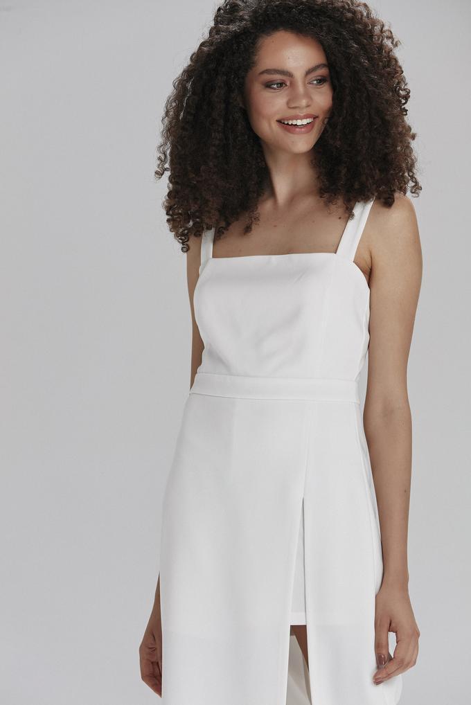 Bej Askılı Elbise