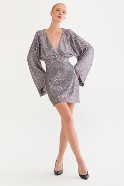 Sırtı Açık Payet Elbise