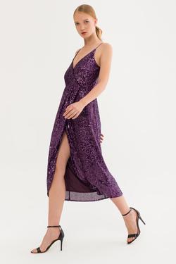 İp Askılı Payet Elbise
