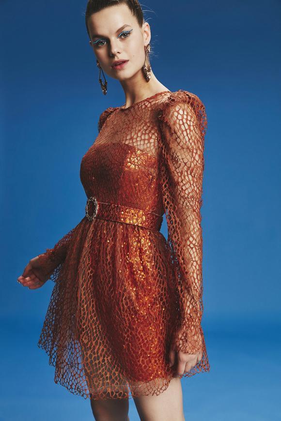 Tarcin Mini Payet Elbise