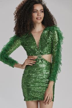 Uzun Kollu Payet Elbise