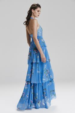 Boyundan Fırfırlıı Elbise