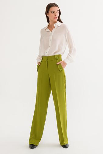 Yeşil Cep Kapaklı Pantolon
