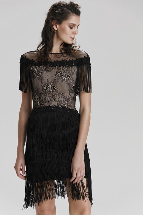 Siyah Dantelli Elbise
