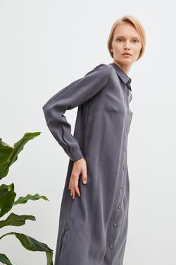 Yırtmaçlı Gömlek Elbise