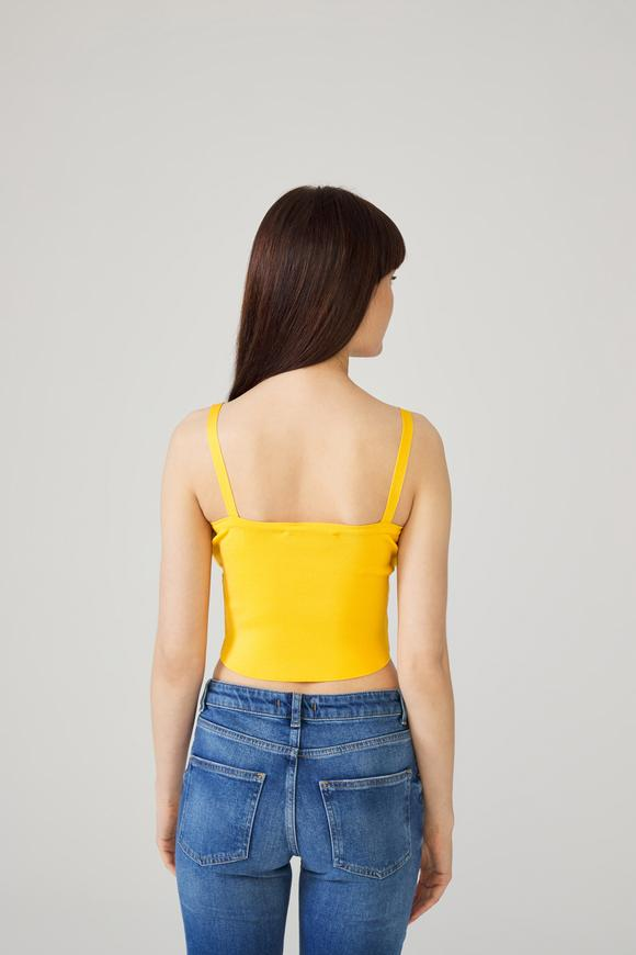 Sarı Bağcıklı Triko