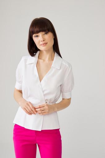 Beyaz Kruvaze Gömlek