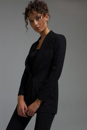 Siyah Taşlı Ceket