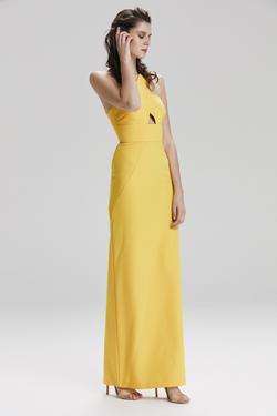 Uzun Saten Elbise