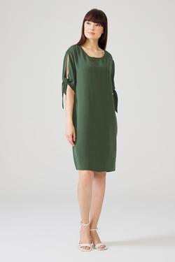 Kolu Bağcıklı Elbise