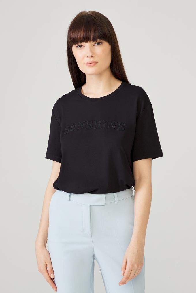 Siyah Baskılı T-Shirt