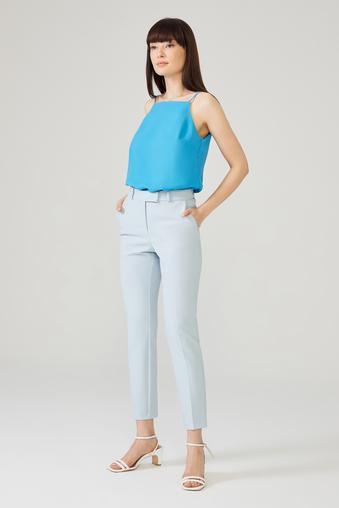 Mavi Arkası Lastikli Pantolon