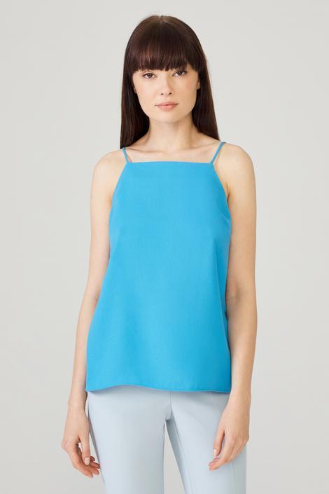 Mavi Askılı Bluz