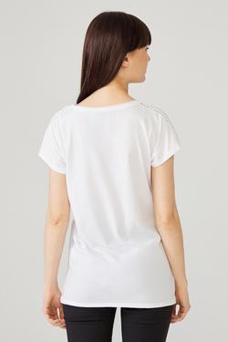 Omuzları Dantelli Tişört
