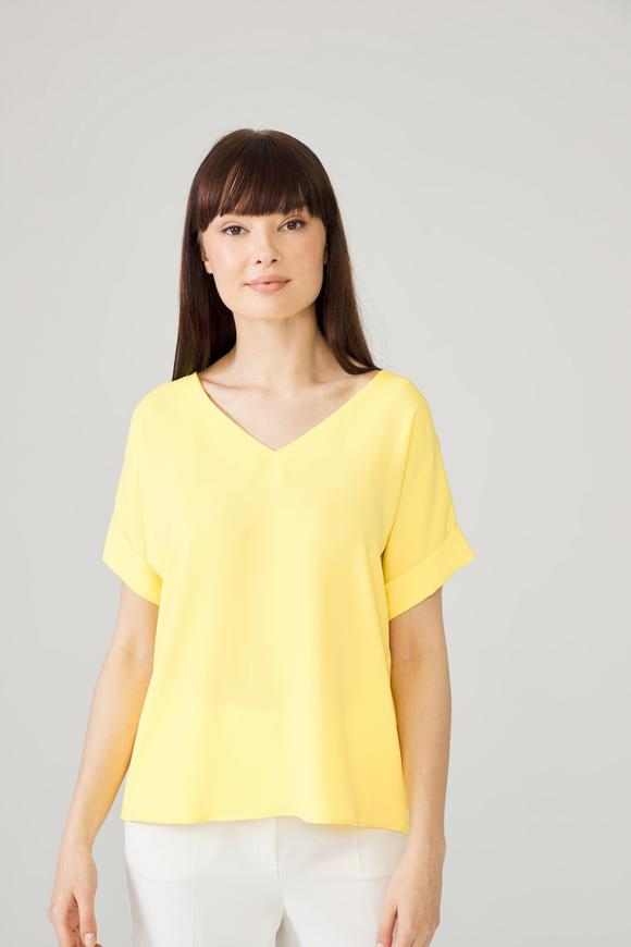 Sarı Kısa Kollu Bluz