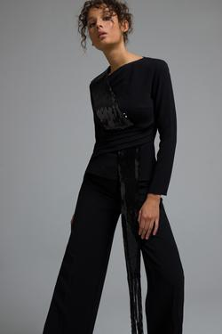 Payet Şeritli Bluz