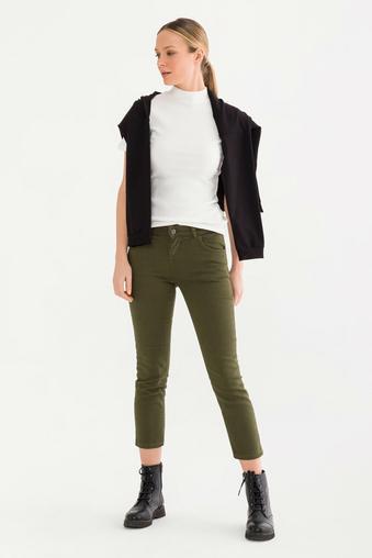 Yeşil Jean Pantolon