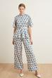 Beli Lastikli Pijama Pantolon
