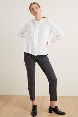 Fırfırlı Uzun Kol Bluz